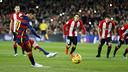 Leo Messi au moment du pénalty / MIGUEL RUIZ - FCB