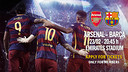 Tickets applications for Arsenal v FC Barcelona / FCB
