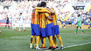 Barça celebrate triumph at La Rosaleda / MIGUEL RUIZ - FCB