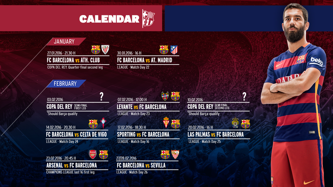 Crunch Fixtures Approaching For FC Barcelona FC Barcelona - Barcelona fc table
