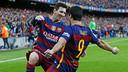 Messi et Suárez célèbrent leur but face à l'Atletico Madrid / MIGUEL RUIZ - FCB
