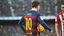 Leo Messi a inscrit 25 buts en 28 rencontres face à l'Atlético de Madrid / VICTOR SALGADO - FCB