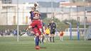 Les jugadores del Femení celebren un dels vuit gols / VÍCTOR SALGADO - FCB