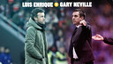 Luis Enrique takes on Gary Neville on Wednesday / FCB