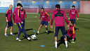 Les joueurs pendant un entrainement  / MIGUEL RUIZ - FCB