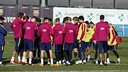 Luis Enrique and his players trained for the match on Tuesday / MIGUEL RUIZ-FCB
