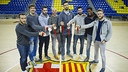 The eight FC Barcelona Lassa medallists / VICTOR SALGADO-FCB