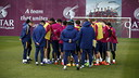 The squad in training on Saturday at the Ciutat Esportiva / MIGUEL RUIZ - FCB