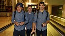 Neymar Jr, Messi and Suárez leaving from Barcelona airport / MIGUEL RUIZ-FCB