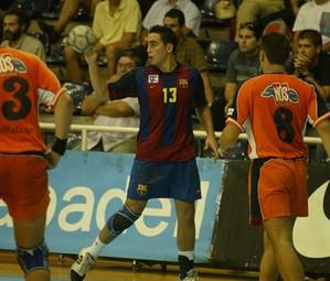 Valero Rivera, en su anterior etapa de jugador blaugrana / FOTO:ARCHIVO-FCB
