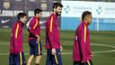Messi, Suárez, Piqué et Neymar Jr à la Ciutat Esportiva / MIGUEL RUIZ - FCB