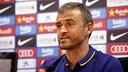 Luis Enrique, en roda de premsa / FCB