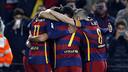 Les joueurs après un but au Camp Nou lors du match aller / MIGUEL RUIZ - FCB