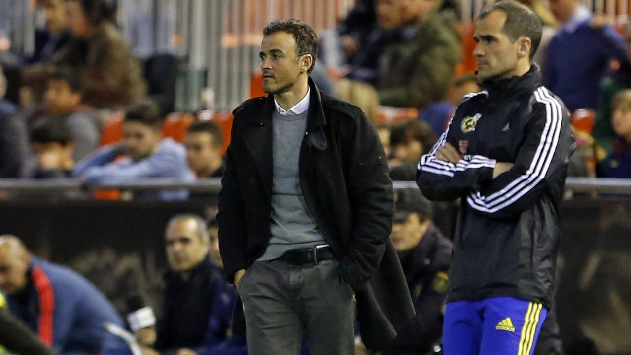 Luis Enrique, en el partit contra el València / MIGUEL RUIZ - FCB