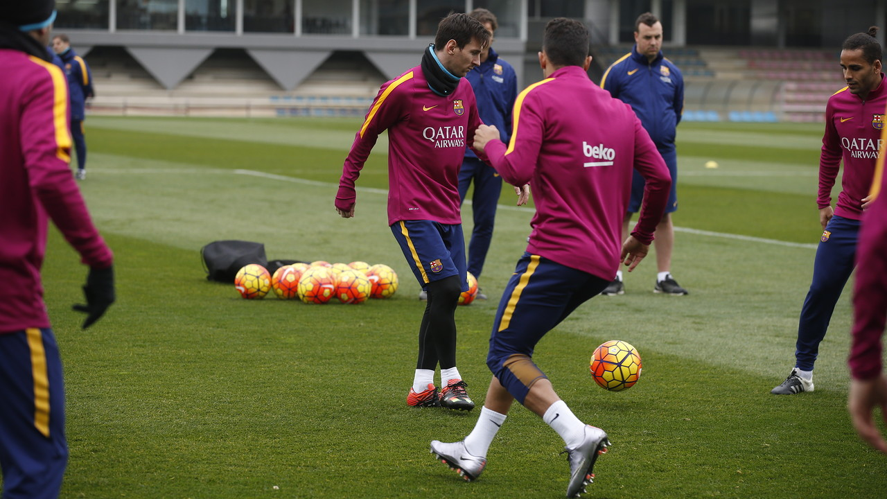 Leo Messi worked out as normal on Thursday morning at the Ciutat Esportiva. / MIGUEL RUIZ - FCB
