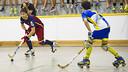Lucas Ordoñez takes on the Caldes defence / FOTO: V. SALGADO - FCB