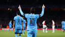 Leo Messi après son deuxième but / MIGUEL RUIZ - FCB