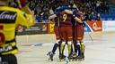 FC Barcelona Lassa celebrate their big win / VÍCTOR SALGADO - FCB