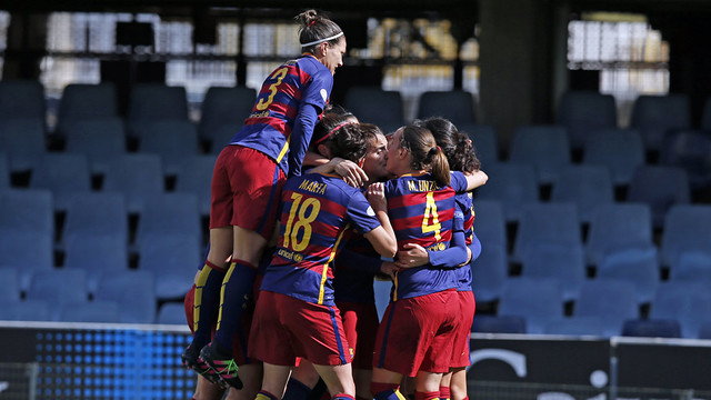 El Barça Femenino celebra un gol esta temporada / VÍCTOR SALGADO - FCB