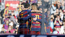 The players celebrate during win over Getafe. MIGUEL RUIZ - FCB