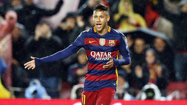 Neymar put Barça on top, 1–0, in the 18th minute. / MIGUEL RUIZ - FCB