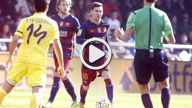 Messi, en action face à Villarreal au Madrigal / MIGUEL RUIZ - FCB