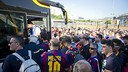 Barça supporters preparing for last year's trip to Berlin / FCB