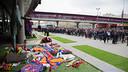 Thousands visited the Johan Cruyff memorial at Camp Nou / GERMÁN PARGA - FCB