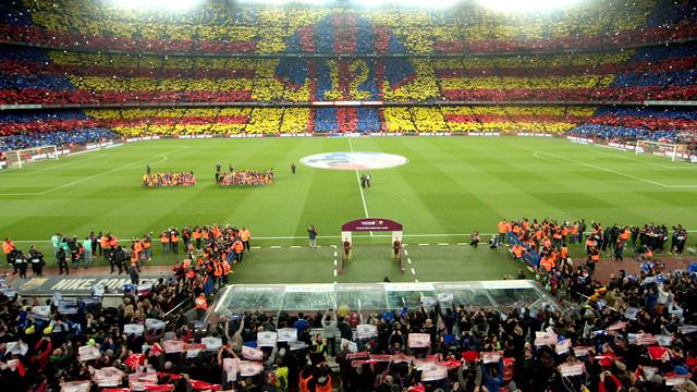 The twelfth man mosaic before the last El Clásico at Camp Nou. / GERMÁN PARGA-FCB