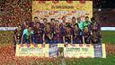 Algunos jugadores del Barça B actual ya levantaron la Copa Cataluña hace dos años / ARCHIVO FCB