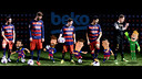Lionel Messi and his Barça teammates do their part in the rollout of the new Beko campaign. / FCB