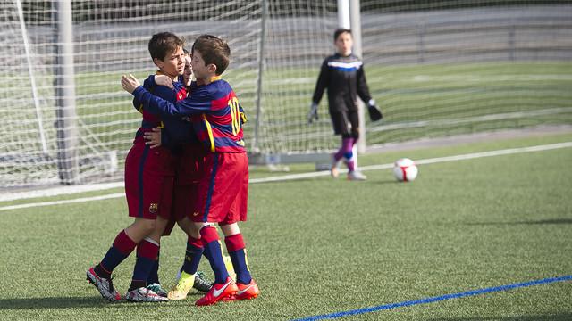 Marc Guiu, del Benjamín A, protagoniza el resumen de goles con dos goles / FCB-VICTOR SALGADO