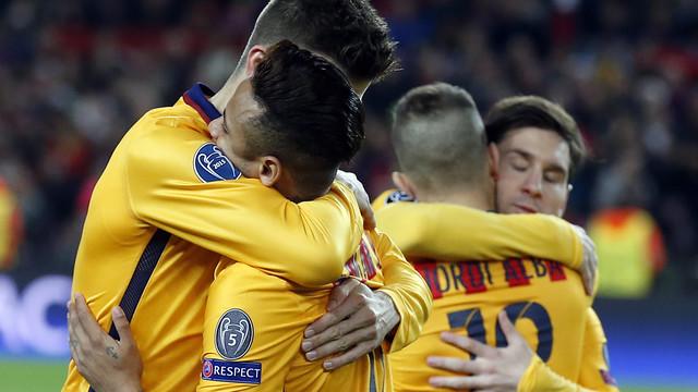 El Barça, ganador del primer duelo contra el Atlético de Madrid / MIGUEL RUIZ - FCB