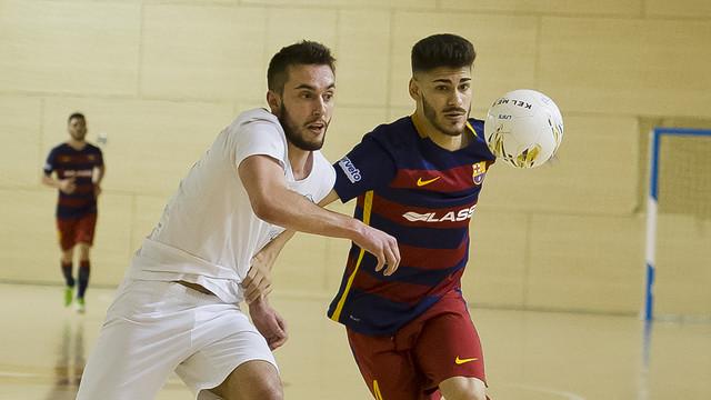 El Barça B va guanyar i Esteban va ser autor d'un hat-trick