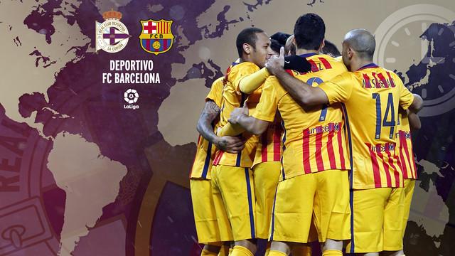 Horarios internacionales del Deportivo - FC Barcelona / FCB