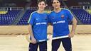 Llorca y Álvarez, los goleadores del Barça Lassa. FOTO: FCB