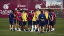 Luis Enrique is taking eighteen players to La Coruña. / MIGUEL RUIZ - FCB