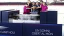新カンプノウの模型を発表する4人のキャプテンとルイス・エンリケ / MIGUEL RUIZ - FCB