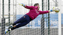 Claudio Bravo durant un entrenament a la Ciutat Esportiva / MIGUEL RUIZ - FCB