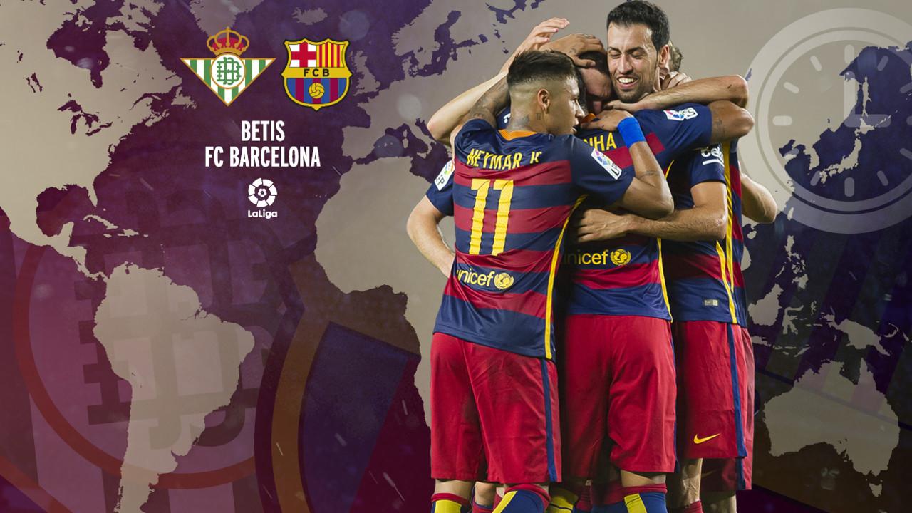 Horarios internacionales del Betis - Barça de la jornada 36 de Liga / FCB