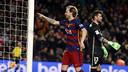 Rakitic celebrates the goal he scored versus Athletic Club at Camp Nou this season. / MIGUEL RUIZ - FCB