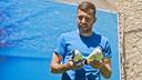 Jordi Alba attends a marketing event in Barcelona on Wednesday. / VÍCTOR SALGADO-FCB