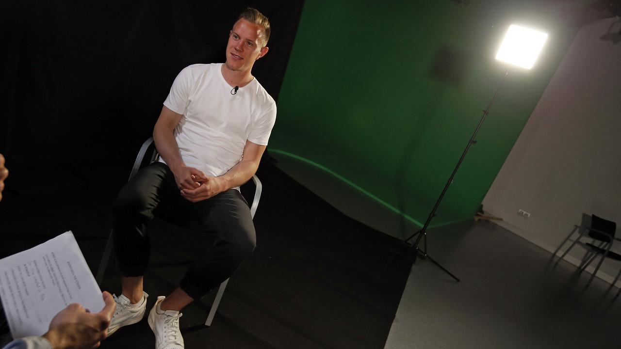 Ter Stegen, en la entrevista hecha por los medios oficiales del Club / MIGUEL RUIZ - FCB
