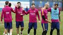 Imatge del final de l'entrenament a la Ciutat Esportiva / MIGUEL RUIZ - FCB