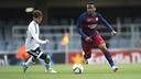 Kaptoum in action at the Miniestadi / VÍCTOR SALGADO - FCB