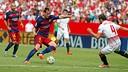 Ivan Rakitic, lors d'un match entre Séville et le Barça / MIGUEL RUIZ - FCB
