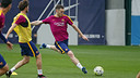 A fit again Vermaelen in Monday's training session / MIGUEL RUIZ - FCB