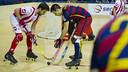 Matías Pascual, en una acción contra el Vic. FOTO: V. SALGADO - FCB