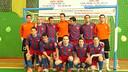 Este es el equipo que jugó el quinto partido para conseguir el ascenso / Foto: ARXIU FCB