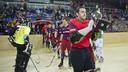 Aitor Egurrola, con la Copa del Rey ganada el pasado mes de febrero. FOTO: Arxiu FCB